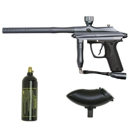Azodin Kaos Paintball Marker Gun 3Skull Starter Set - Gun Metal Blue