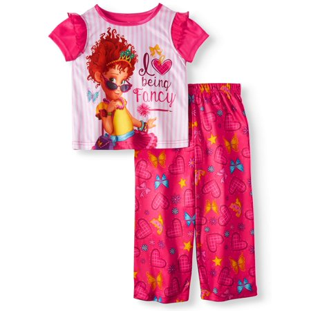 Short Sleeve Top & Pants, 2pc Pajama Set (Toddler Girls) - Fancy Girls Pajamas