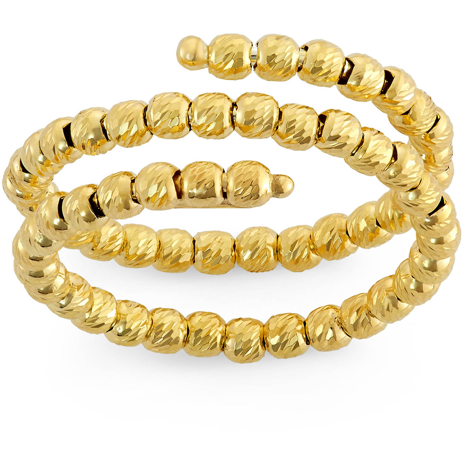 Giuliano Mameli 14kt Gold-Plated Sterling Silver DC Bead Ring
