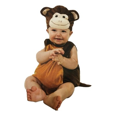 Boo Babies Halloween Costume Mischievous Monkey Brown Sz 0-9 Months 3 Pieces for $<!---->
