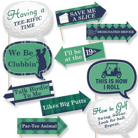 Golf Parties (Funny Par-Tee Time - Golf - Party Photo Booth Props Kit - 10)