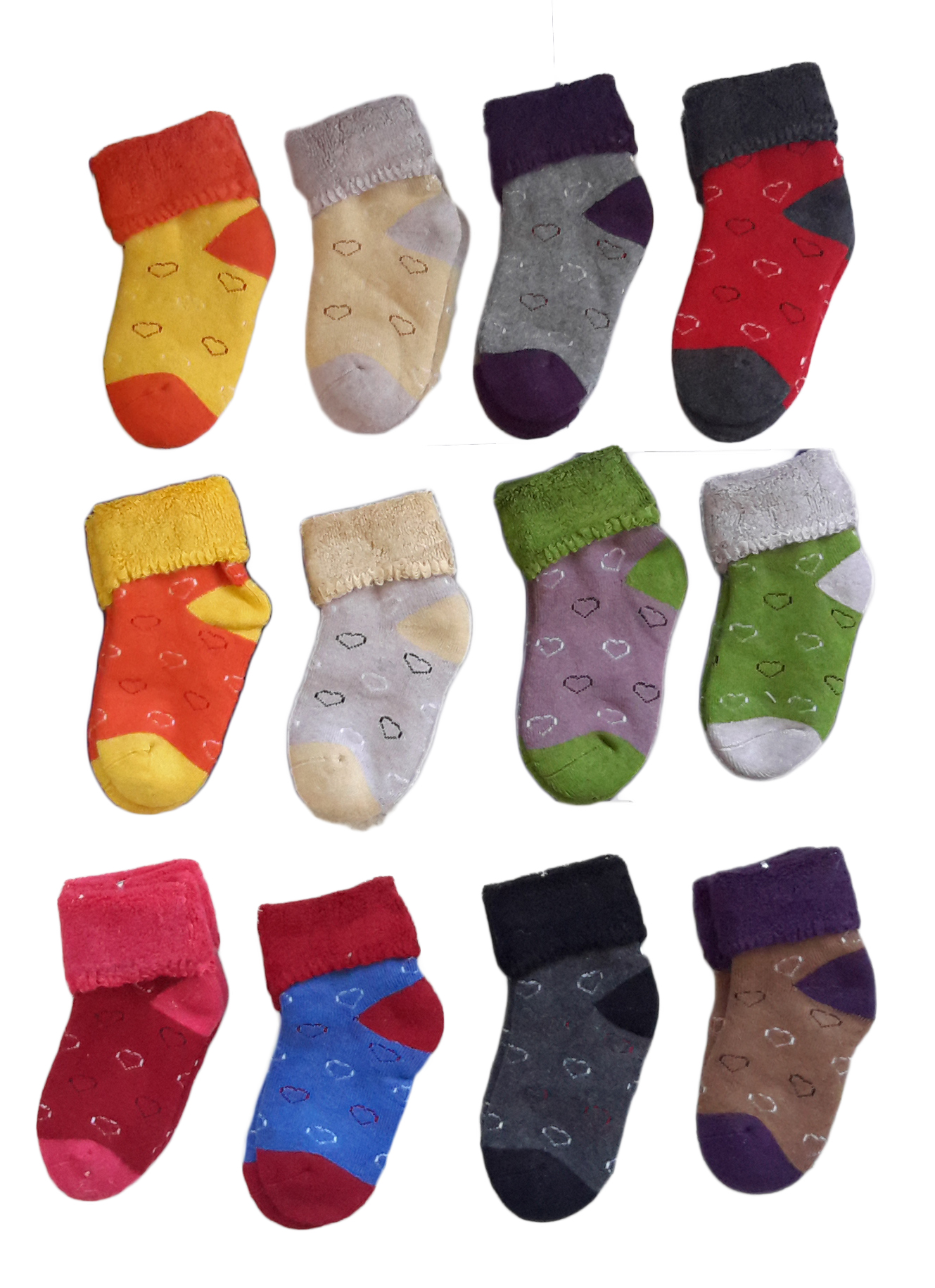 Lovely Annie 2 Pairs Children Cashmere Wool Socks Heart B 12M-36M Random Color