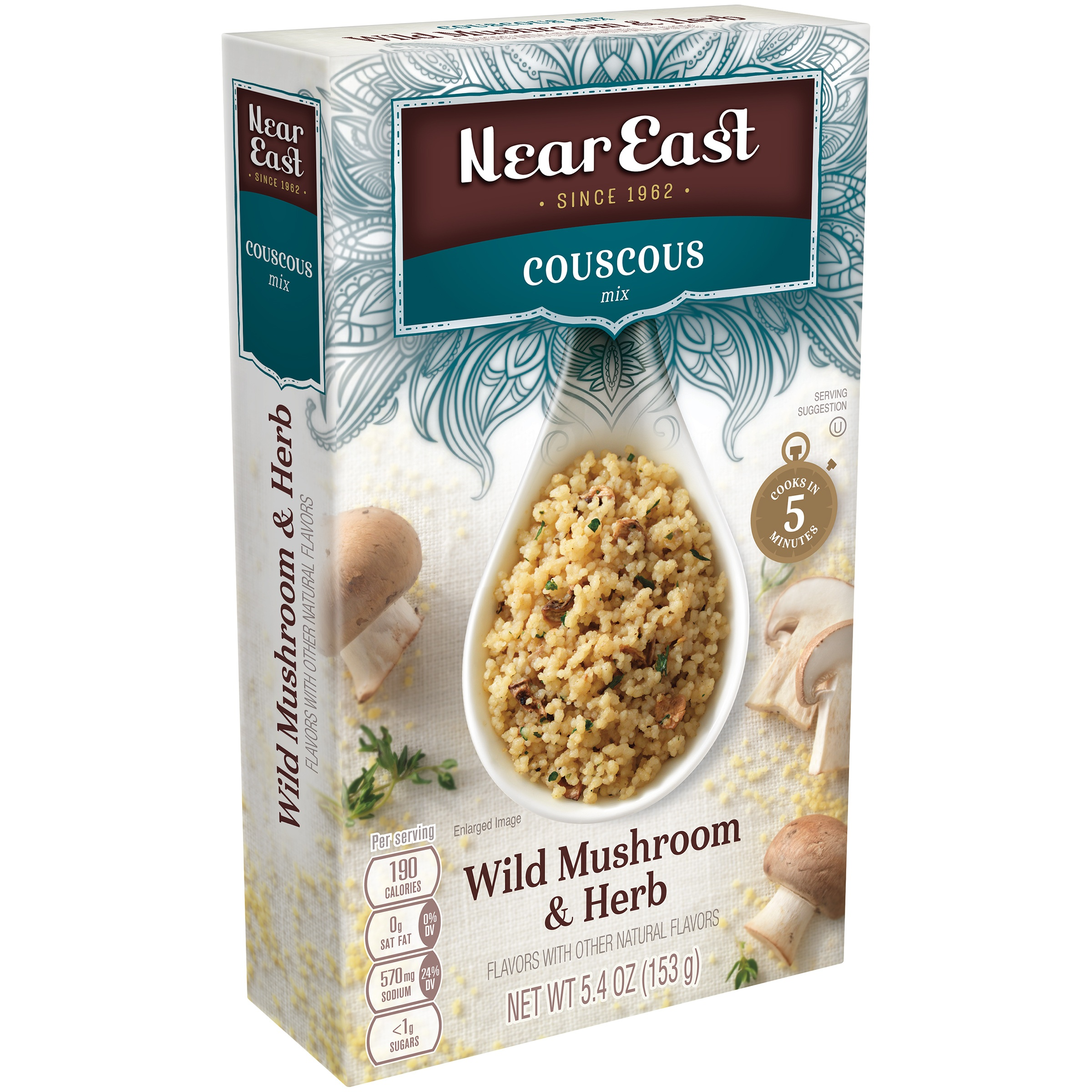 Near East Couscous Mix, Wild Mushroom & Herb, 5.4 oz Box