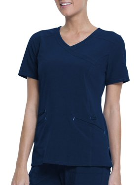 6ecd95801c2 Product Image Women's Fashion Premium Performance Mock Wrap Scrub Top
