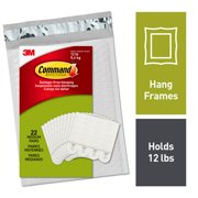 Command White, Medium Picture Hanging Strips, 22 Pairs Per Pack