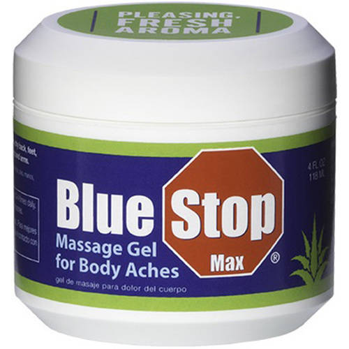 Blue Stop Max Massage Gel for Body Aches, 4 fl oz