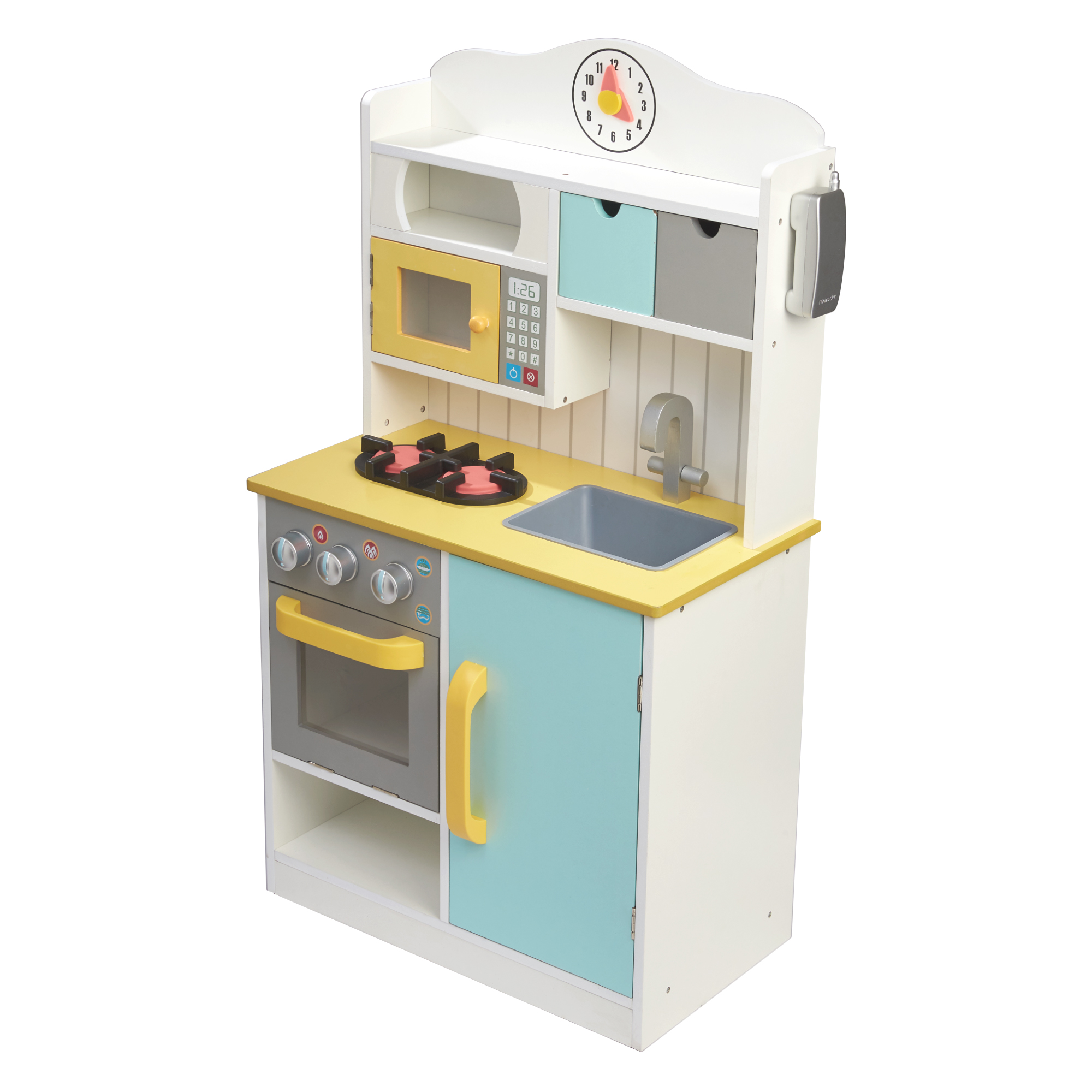 Teamson Kids  Florence Small Play Kitchen  White Green