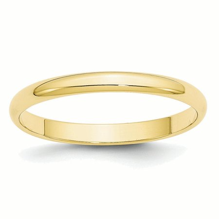 10k Yellow Gold 2.5mm LTW Half Round Band Ring