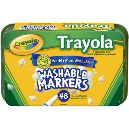 Crayola Trayola Fine Line Washable Markers-48 Count