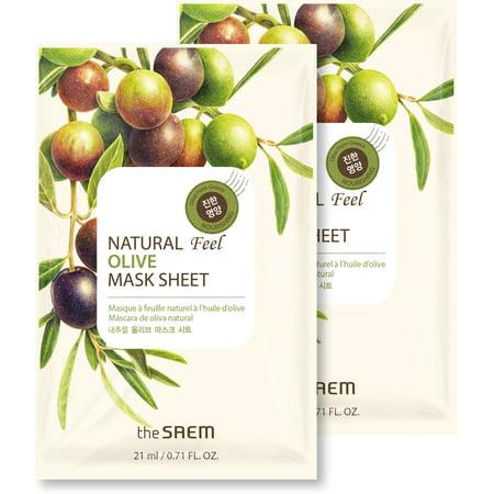 Natural Olive Sheet Mask, 2 Pack