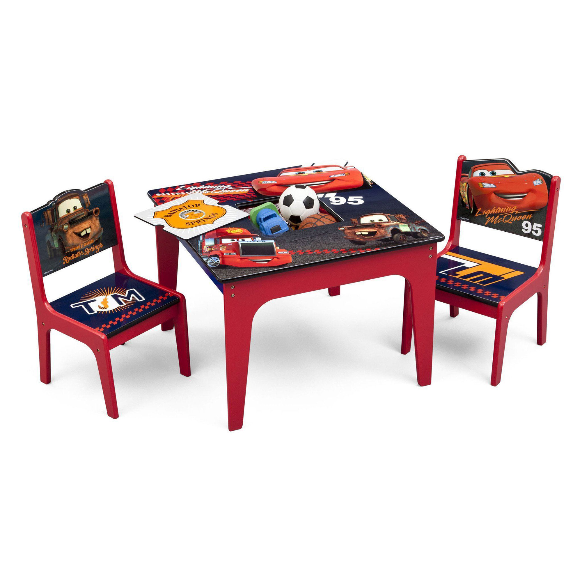 children s table with storage delta children disney pixar cars deluxe storage play 14813
