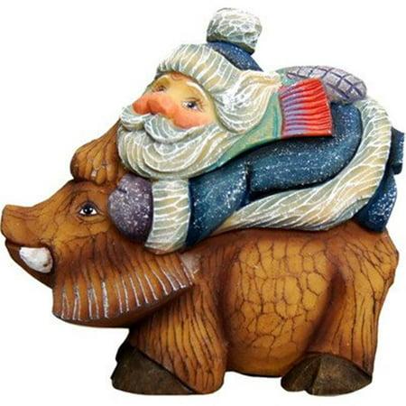 GDeBrekht 63144 Santa On Boar Figurine Ornament