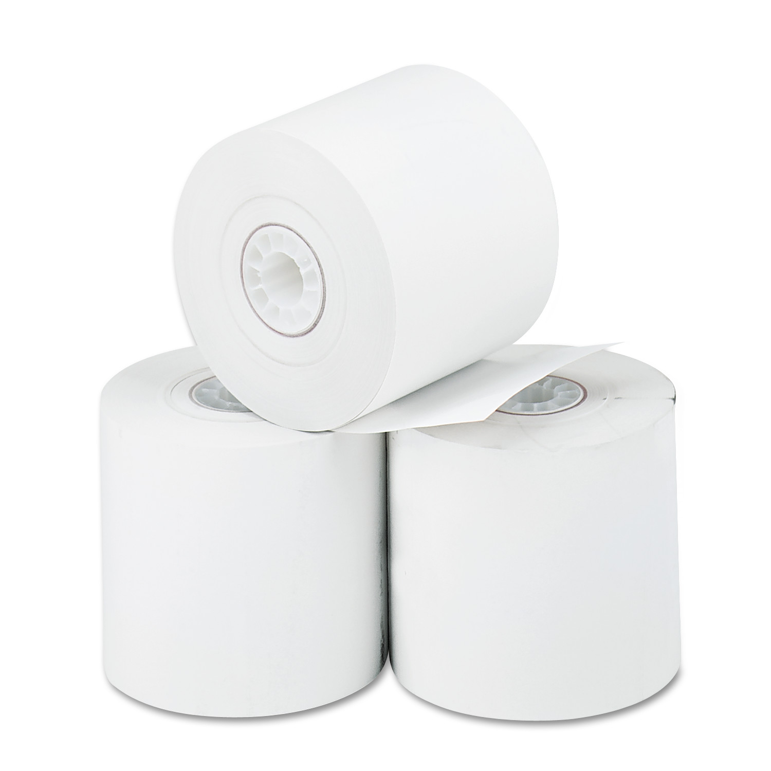"Thermal Paper Rolls for Cash Registers/Calculators, 2 1/4"" x 165 ft, 3-Pack"
