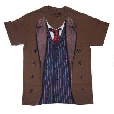 Doctor Who Mens David Tennant 10th Doctor Costume T-Shirt