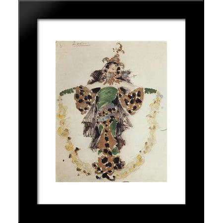 Khan's wife, costume design for C.Pugni`s ballet 20x24 Framed Art Print by Konstantin Korovin