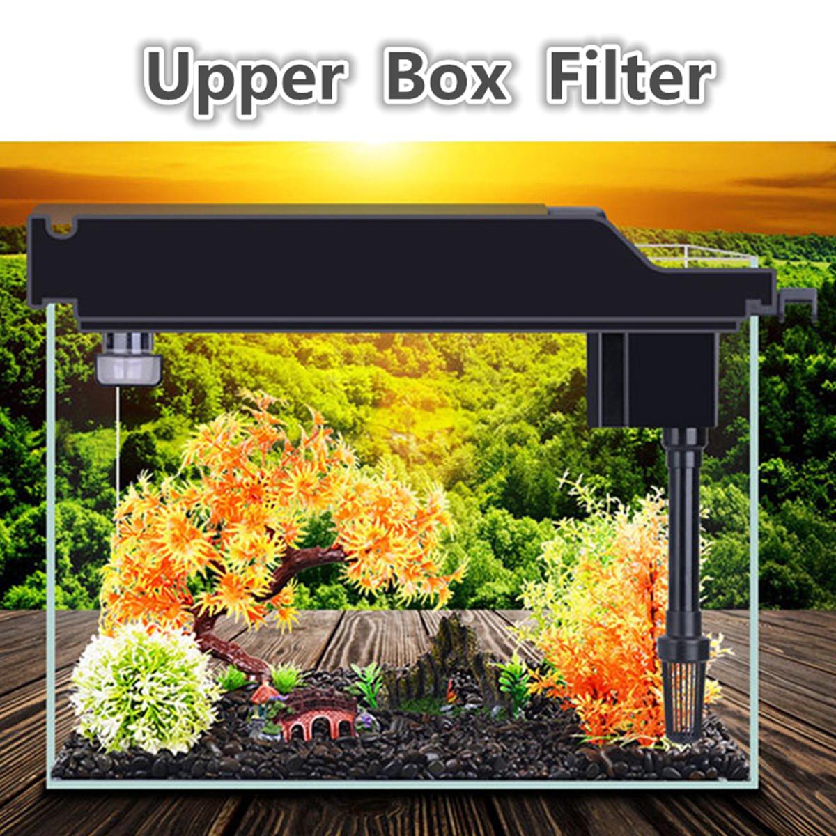 Meigar 3-in-1 Upper Box Filter Fish tank Filter Aquarium External Tank Filter Cleaning and Maintenance of Fresh and Salt Water