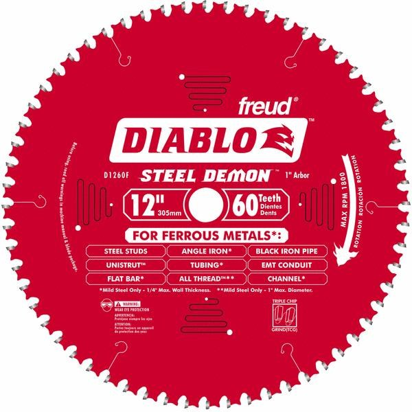 "Diablo Steel Demon Ferrous Metal Cutting Blade-12"" 60T FER METAL BLADE"