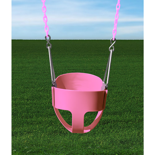 Gorilla Playsets Toddler Full Bucket Swing, Pink