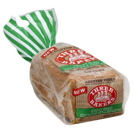 Three Bakers Gluten-Free Great Seed Whole Grain & 7 Seed Bread, 17 oz Arnold Whole Grain Bread