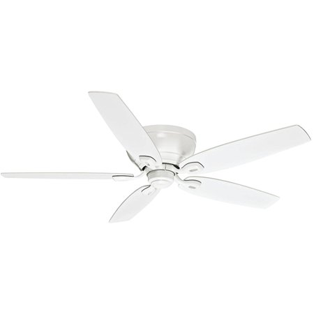 """Casablanca Fan Company 54103 54"""" Durant Snow White Ceiling Fan with 5 Snow White Blades"""
