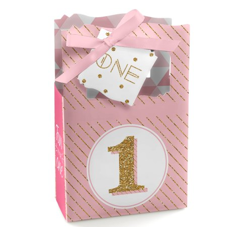 1st Birthday Girl - Fun to be One - Birthday Party Favor Boxes - Set of 12 - First Birthday Party Ideas Girl