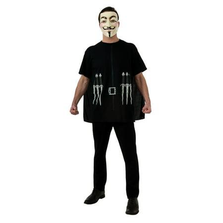 V For Vendetta Shirt and Cape Men's Adult Halloween Costume for $<!---->