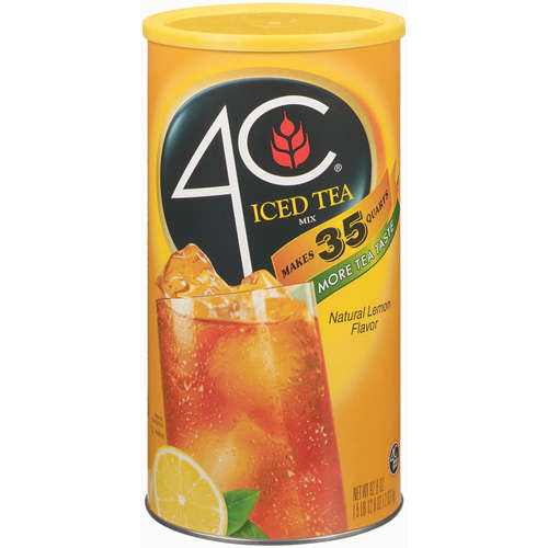 4C Drink Mix, Lemon Iced Tea, 87.8 Oz, 1 Count