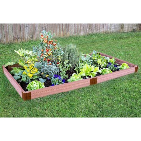 "- Frame It All Tool-Free Classic Sienna Raised Garden Bed 4' x 8' x 5.5"" – 2"" profile"