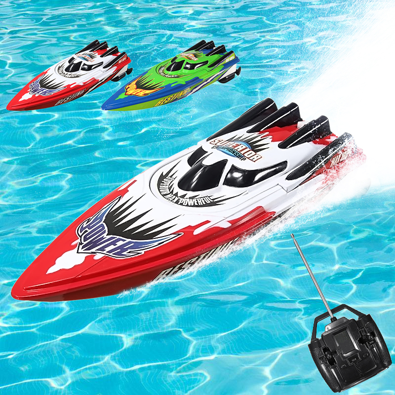 Red   Green Racing Boat Ship Radio Remote Control Twin Motor High Speed RC Boat Toy Christmas Kids Children... by
