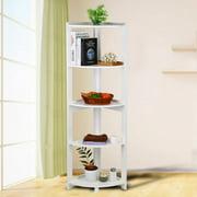 TOPINCN 5 Tier Corner Bookshelf Storage Cabinet Bookcase Rack Organizer CD Book DecorCorner