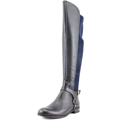 Franco Sarto Mast Women Round Toe Leather Blue Over the Knee Boot by Franco Sarto