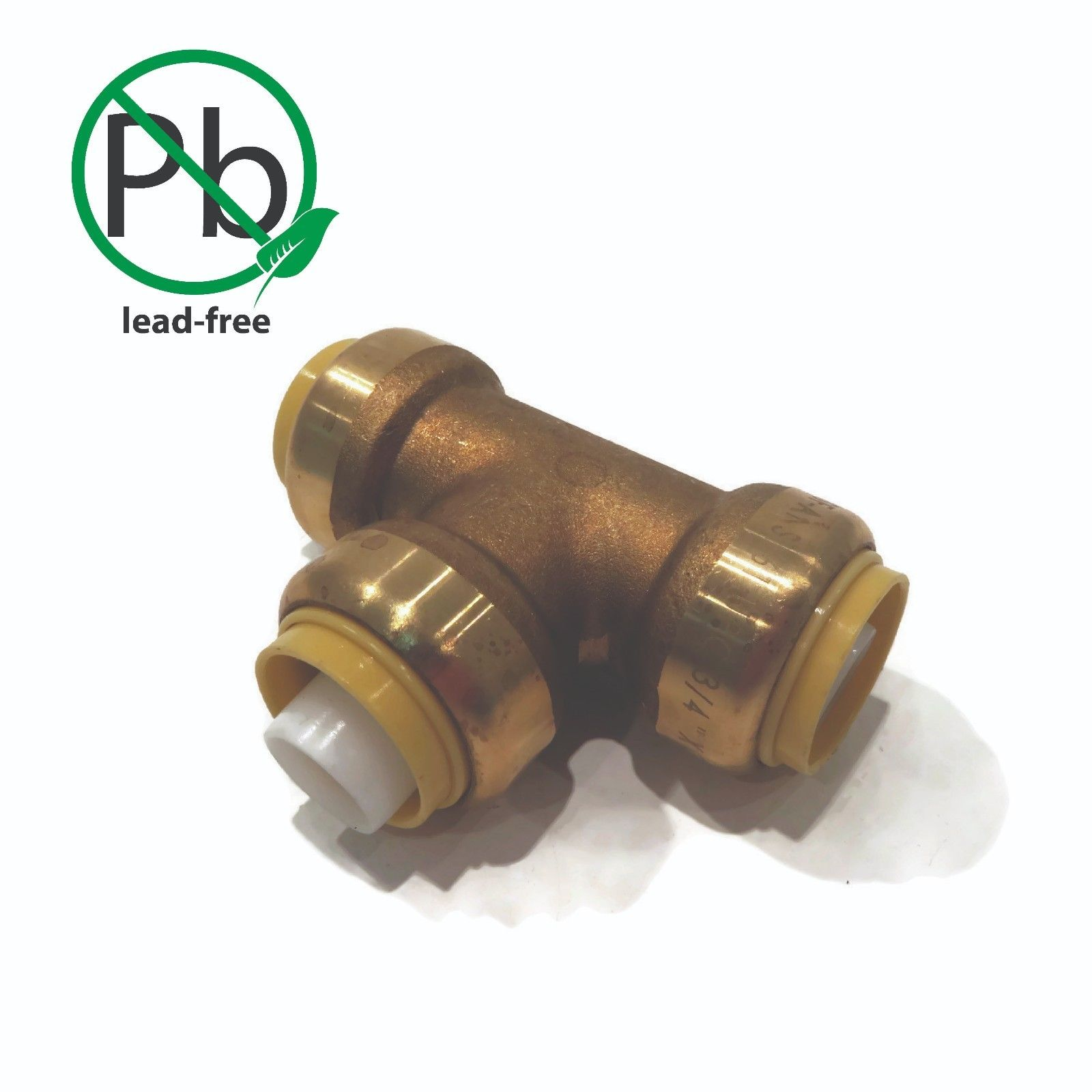 "New 3/4"" SharkBite Style Push to Connect LEAD FREE BRASS TEE Push-Fit Connector"
