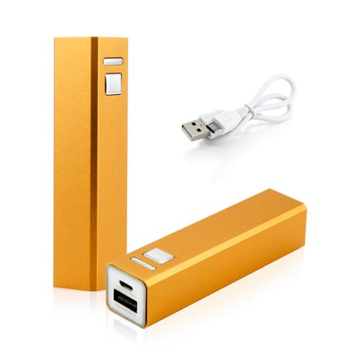 2600mAh Portable Mobile USB Power Bank External Battery Charger for Cell Phone backup - Gold