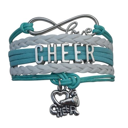 Girls Cheerleading Bracelet, Cheer Gifts- Cheer Jewelry- Cheer Bracelet- Adjustable Cheer Charm Bracelet- Gift For Cheerleaders, Cheer Teams & Cheerleading - Cheerleader Christmas Gifts