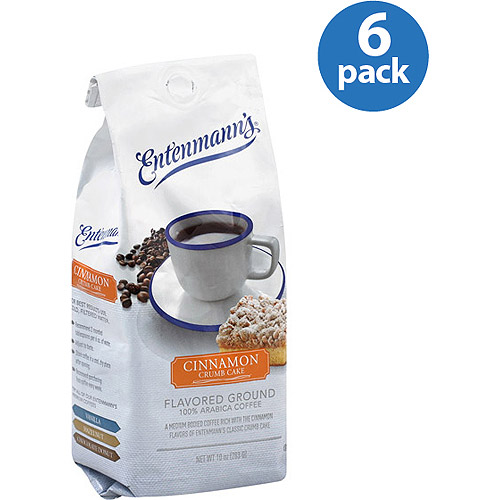 Entenmann's Cinnamon Crumb Cake Flavored Ground Coffee, 10 oz, (Pack of 6)