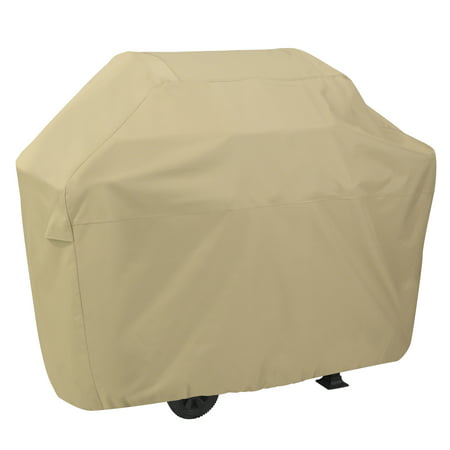 Classic Accessories Terrazzo BBQ Grill Cover - All Weather Protection Outdoor Grill Cover, Medium, Fits up to 58 inch Long, Sand ()