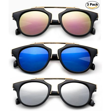 4f631ec719498 Newbee - Newbee Fashion -Designer Inspired Kids Girls High Fashion  Sunglasses Unique Design Metal Bridge Plastic Frame Fashion Girls Sunglasses  with Flash ...