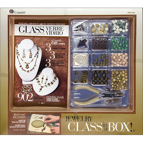 Cousin Jewelry Class in a Box Kit, Naturals Glass