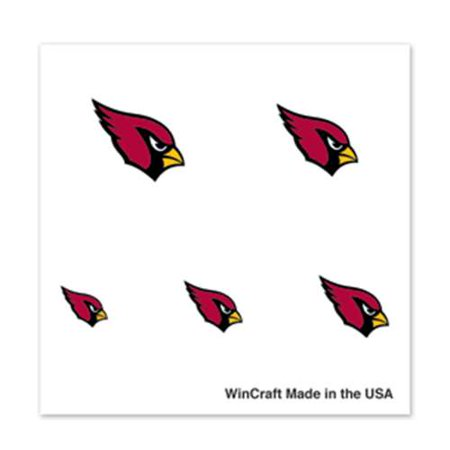 Arizona Cardinals Fingernail Tattoos - 4 Pack](Cardinal Tattoo Ideas)