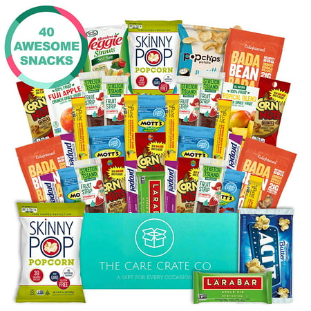 Care Crate Gluten Free Healthy Snacks Variety Pack - Low Carb, Vegan treats for Adults and Kids - Organic, Dairy Free, Keto and Paleo Options - Assorted 40 Pack Gift (Best Healthy Vegan Snacks)