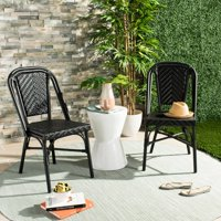 Deals on Safavieh Daria Stacking Black Side Chair- Set of 2