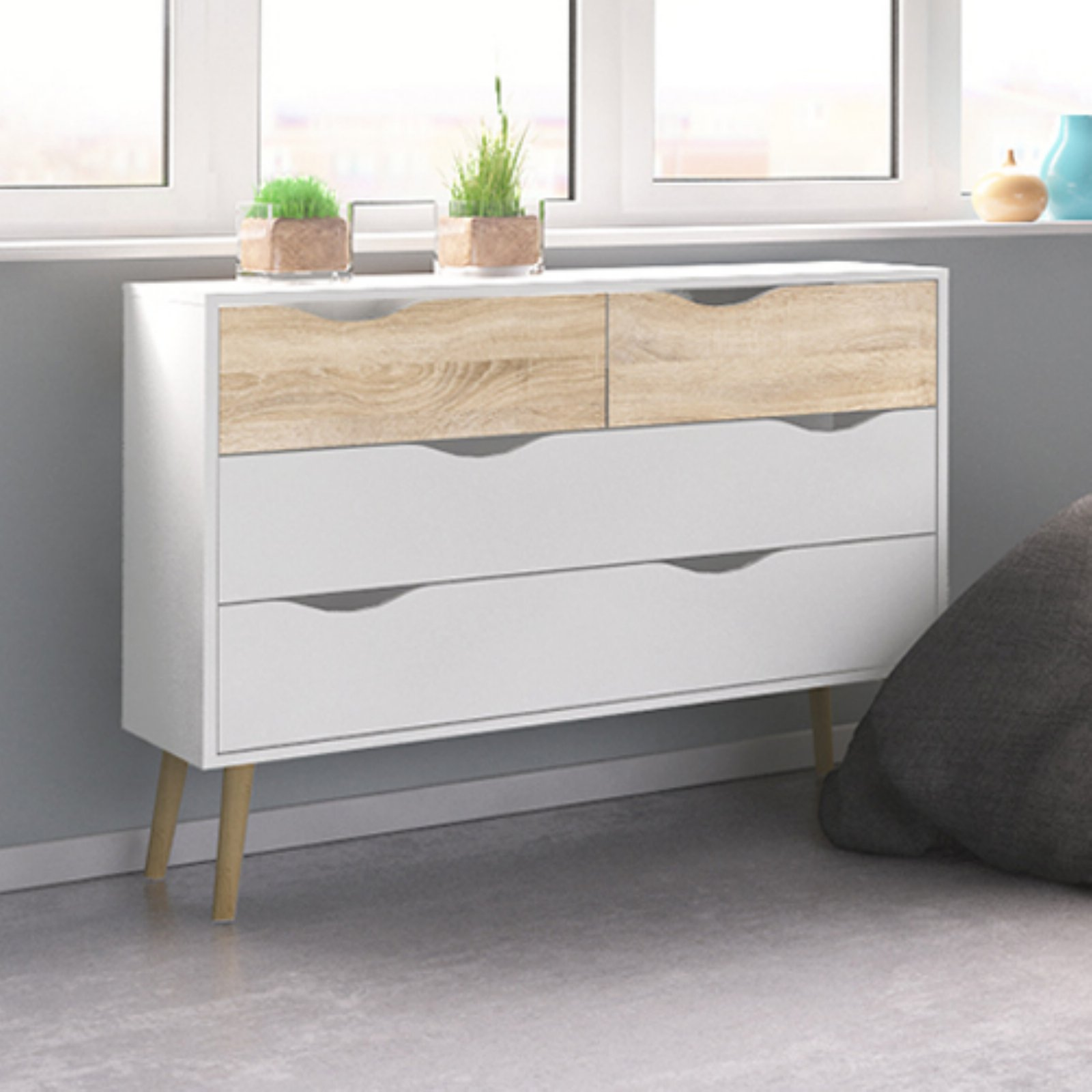 Tvilum Diana 4-Drawer Chest, Multiple Finishes