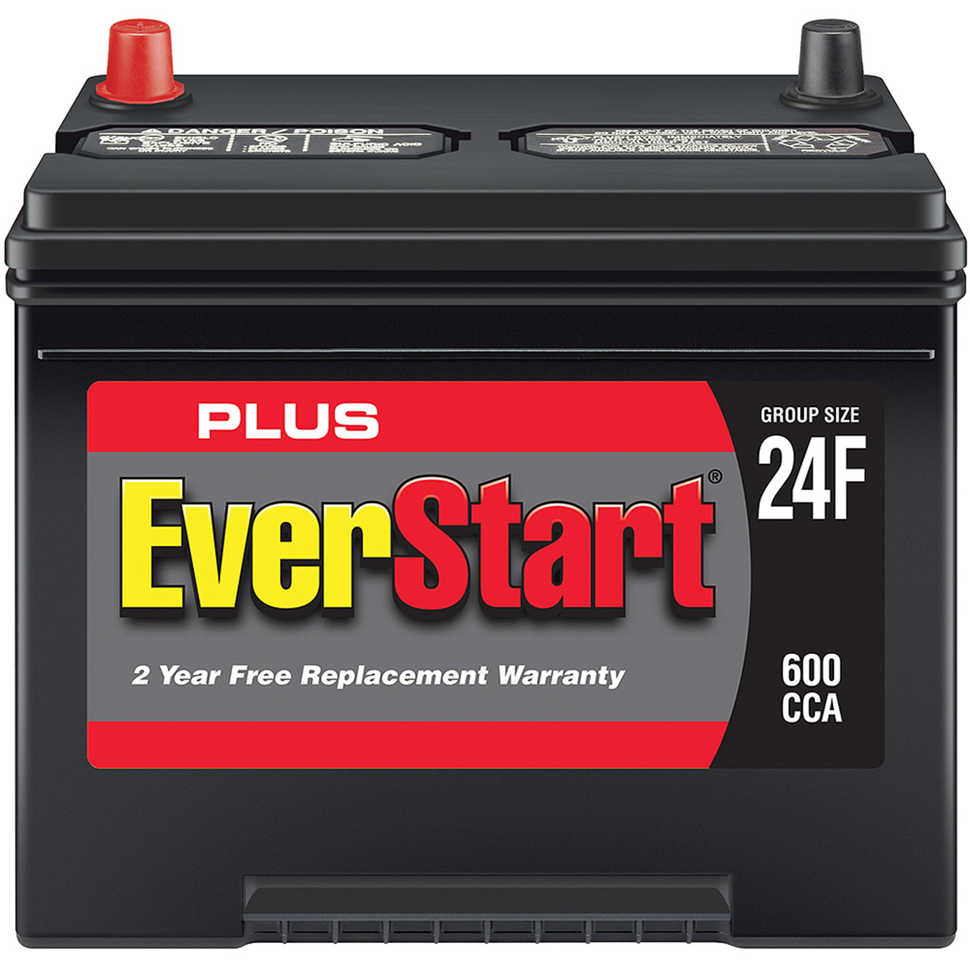 Everstart plus lead acid automotive battery group size 24f 3 walmart com