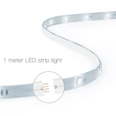 Yeelight WIFI Connected RGB Intelligent Strip Light (ONLY for the Use of extending YLDD04YL Version) 1 Meters AC100-240V 2.1W Supported Smart Phone App Control/ Voice Control/ Setting Modes Selecting/ - image 7 de 7