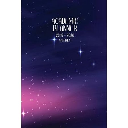 Lavender 9 Months - Academic Planner 2019 - 2020 Weekly: July 1, 2019 - December 31, 2020 18 months Priorities and To Do Column 6 x 9 Lavender Galaxy Stars Paperback