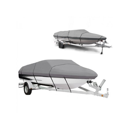 Clearance ! Gray Waterproof Heavy Boat Cover 17 - 19 ft Ship with Carrying  Bag