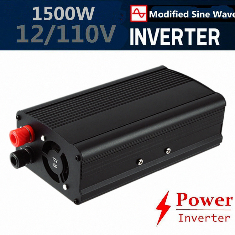 1500W car Power Inverter Dual AC Outlets 12V DC to 110V AC