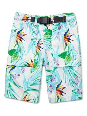 Wonder Nation Boys Buckle Up Utility Shorts, Sizes 4-18 & Husky