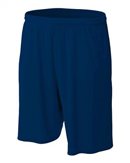 """A4 9"""" Moisture Management Shorts with Side Pockets, Navy, XX-Large"""