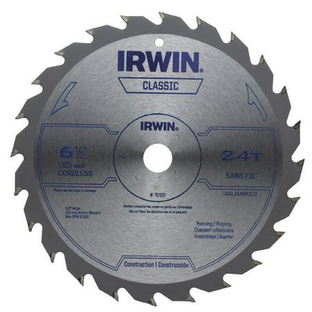 IRWIN 15120 Saw Blade Steel 6 1 2in 24Teeth